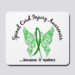 Spinal Cord Injury Butterfly 6.1 Mousepad