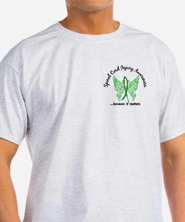 Spinal Cord Injury Butterfly 6.1 T-Shirt