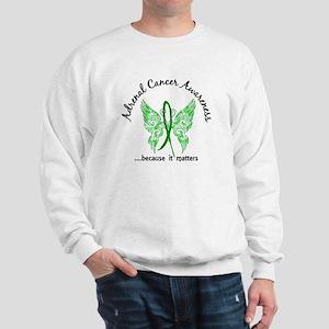 Adrenal Cancer Butterfly 6.1 Sweatshirt