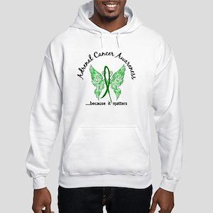 Adrenal Cancer Butterfly 6.1 Hooded Sweatshirt