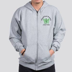 Adrenal Cancer Butterfly 6.1 Zip Hoodie