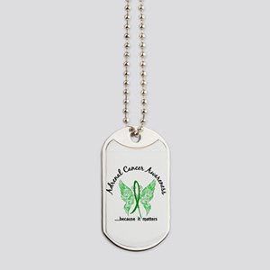 Adrenal Cancer Butterfly 6.1 Dog Tags