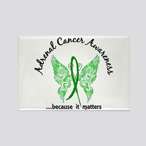 Adrenal Cancer Butterfly 6.1 Rectangle Magnet