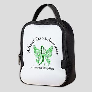 Adrenal Cancer Butterfly 6.1 Neoprene Lunch Bag