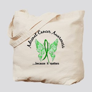 Adrenal Cancer Butterfly 6.1 Tote Bag