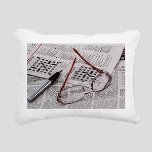 Crossword Genius Rectangular Canvas Pillow