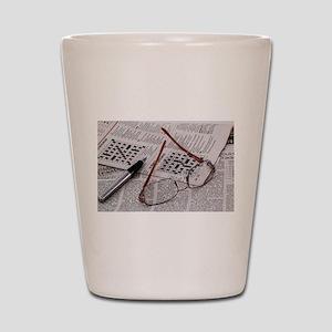 Crossword Genius Shot Glass