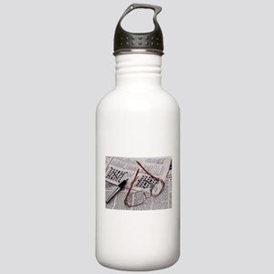 Crossword Genius Water Bottle