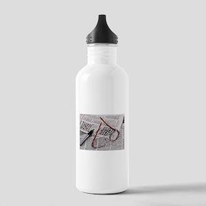Crossword Genius Water Bottle