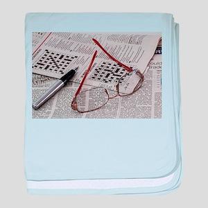 Crossword Genius baby blanket