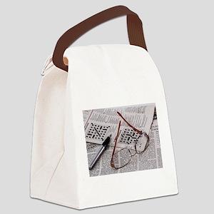 Crossword Genius Canvas Lunch Bag