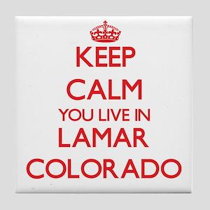 Keep calm you live in Lamar Colorado Tile Coaster