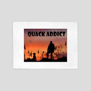 QUACK ADDICT 5'x7'Area Rug
