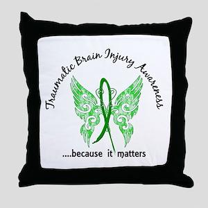 TBI Butterfly 6.1 Throw Pillow