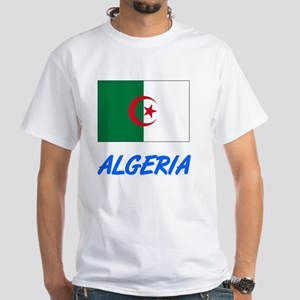 Algeria Flag Artistic Blue Design T-Shirt