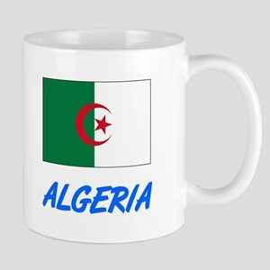 Algeria Flag Artistic Blue Design Mugs