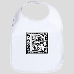 Renaissance Design Cloister Alphabet Initials Bib