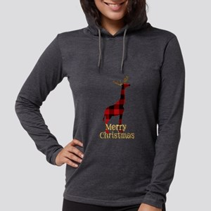 Christmas Plaid Reindeer Giraf Long Sleeve T-Shirt