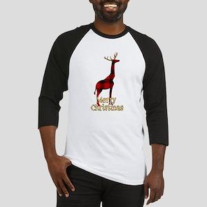 Christmas Plaid Reindeer Giraffe Baseball Jersey