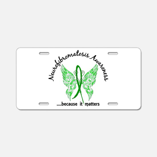 Neurofibromatosis Butterfly Aluminum License Plate