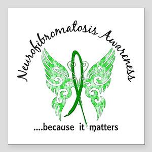 "Neurofibromatosis Butter Square Car Magnet 3"" x 3"""