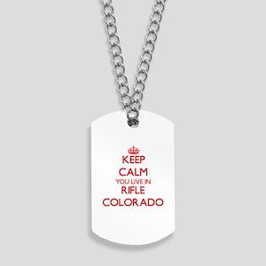 Keep calm you live in Rifle Colorado Dog Tags