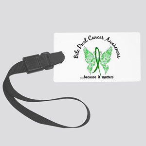 Bile Duct Cancer Butterfly 6.1 Large Luggage Tag