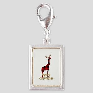Christmas Plaid Reindeer Giraffe Charms
