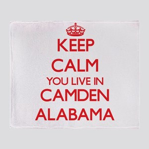 Keep calm you live in Camden Alabama Throw Blanket