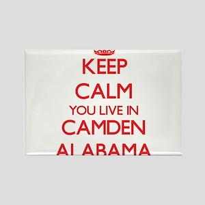 Keep calm you live in Camden Alabama Magnets