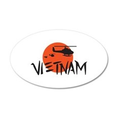 VIETNAM HELICOPTERS Wall Decal