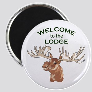 WELCOME TO THE LODGE Magnets
