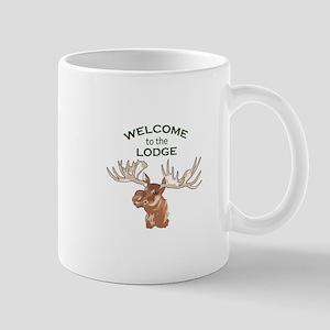 WELCOME TO THE LODGE Mugs