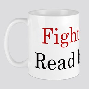 fightevilreadwhitebgrnd png Mugs