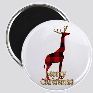 Christmas Plaid Reindeer Giraffe Magnets