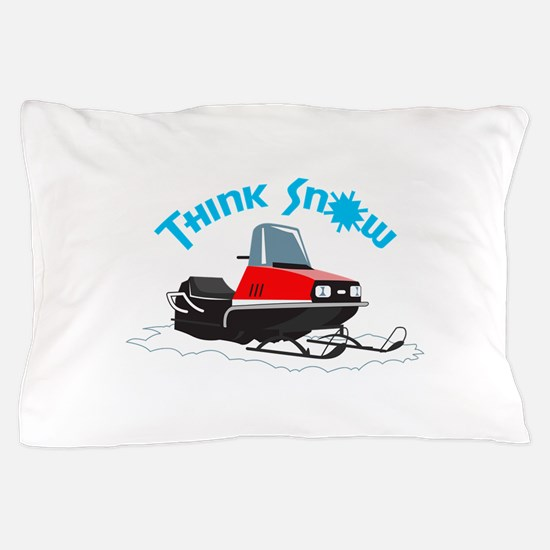 THINK SNOW Pillow Case