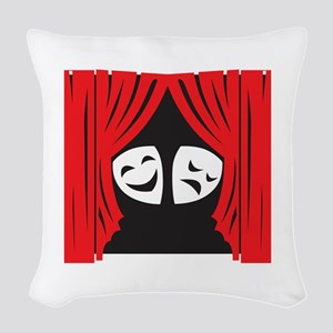 LIVE THEATRE Woven Throw Pillow