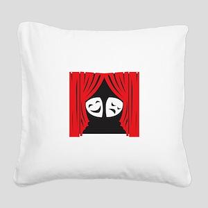 LIVE THEATRE Square Canvas Pillow