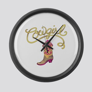 COWGIRL BOOT Large Wall Clock