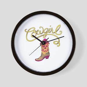 COWGIRL BOOT Wall Clock