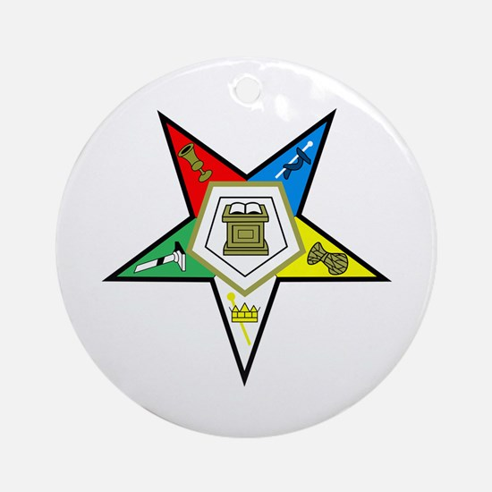 ORDER OF THE EASTERN STAR Ornament (Round)