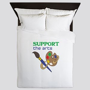 SUPPORT THE ARTS Queen Duvet