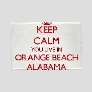 Keep calm you live in Orange Beach Alabama Magnets