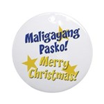 Tagalog & English Ornament (Round)