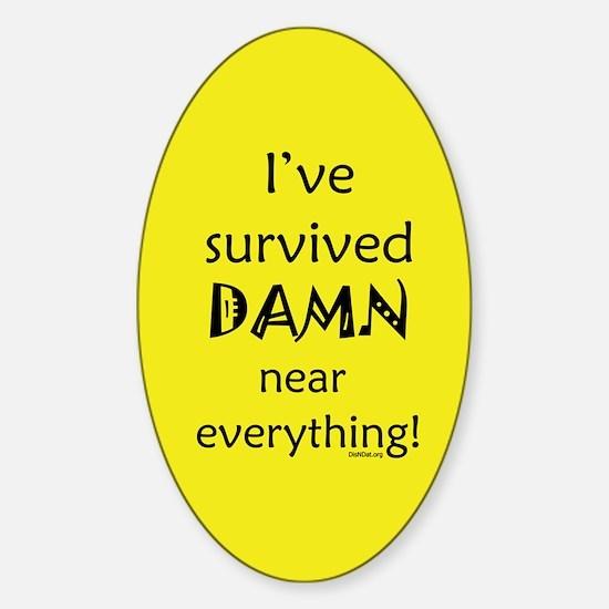 I've Survived Oval Decal
