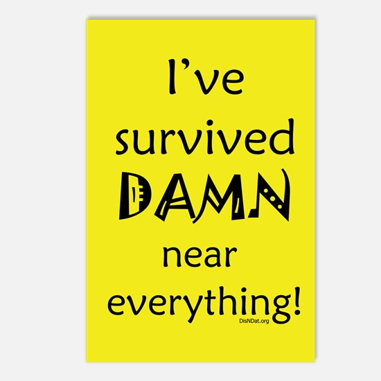 I've Survived Postcards (Package of 8)