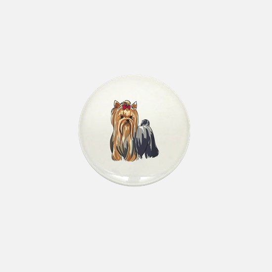 YORKSHIRE TERRIERS Mini Button