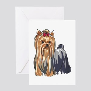 YORKSHIRE TERRIERS Greeting Cards