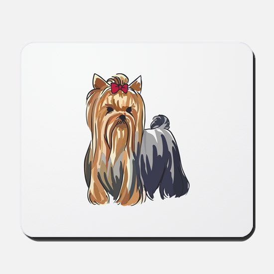 YORKSHIRE TERRIERS Mousepad