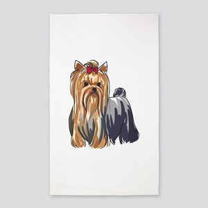 YORKSHIRE TERRIERS Area Rug
